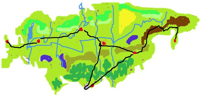 Остров Папумем. Физическая карта